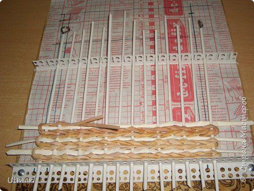 Поделка изделие Плетение Коробок с плетёным дном Продолжаю учиться Идея с удобными стоячками Трубочки бумажные фото 16