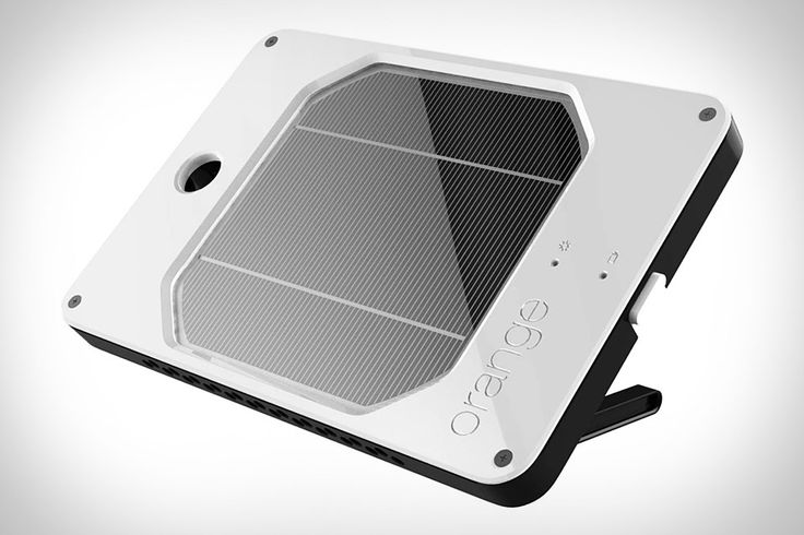 Solar charger with USB port.