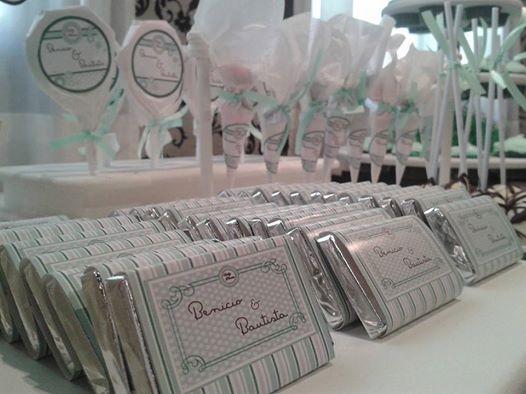 Golosinas Personalizadas para los gemes Benicio y Bautista