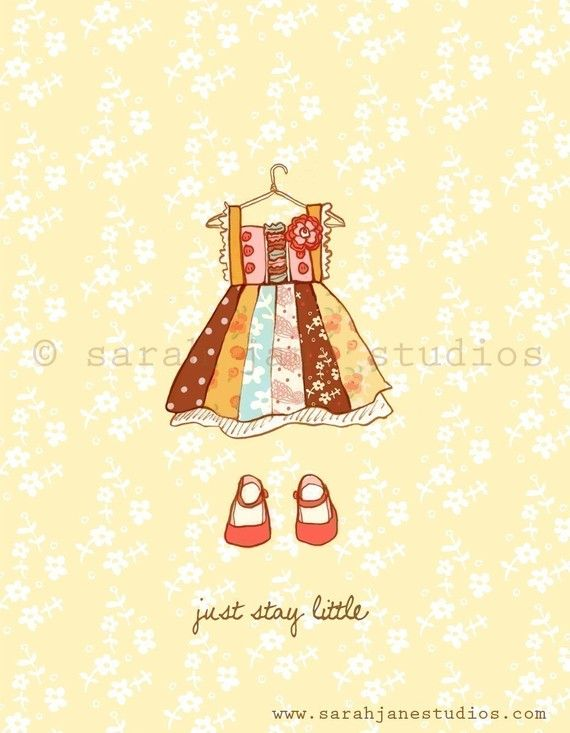 Children's Wall Art Print  Just Stay Little by sarahjanestudios, $26.00    Love this store:)