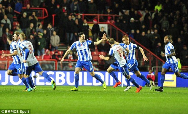 Steve Sidwell made it 1-0 in the 13th minute with an audacious strike from the centre-circle