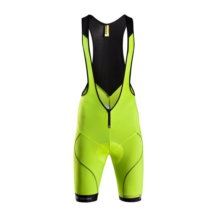 fluorescent yellow cycling bib shorts for men