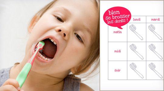 Je me brosse les dents : plus d'oubli !