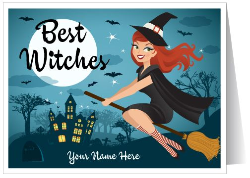 25 best halloween greeting cards images on pinterest holiday pin up witch halloween greeting card m4hsunfo