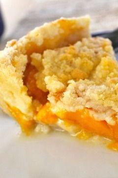 Peach Custard Pie - The Food Charlatan