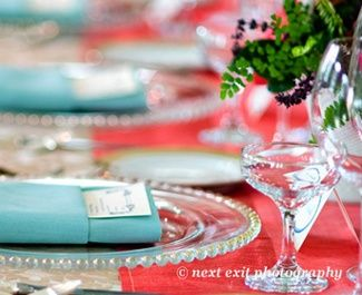 Tiffany Blue Linen Napkin Wedding BrassTacksEvents