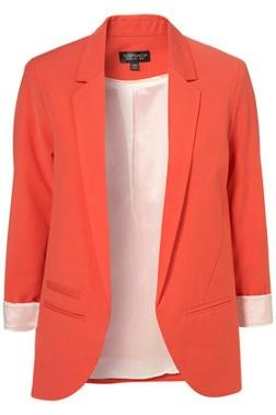 Colourful blazer: Light Pink Blazers, Coral Blazers, Spring Color, Bright Color, Boyfriends Blazers, Dresses, Jackets, Color Blazers, Topshop