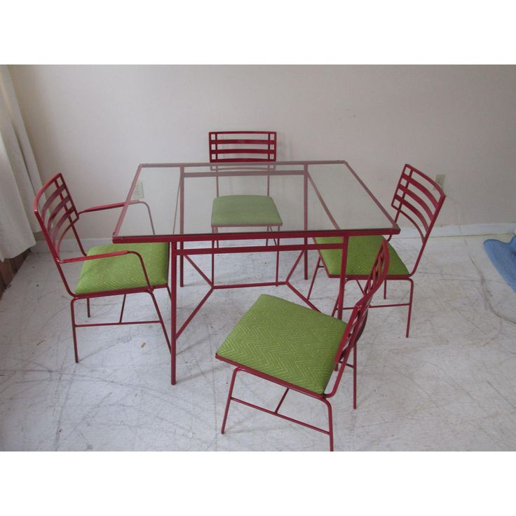 Image of Mid-Century Modern Outdoor Dining Set - 5 Pieces
