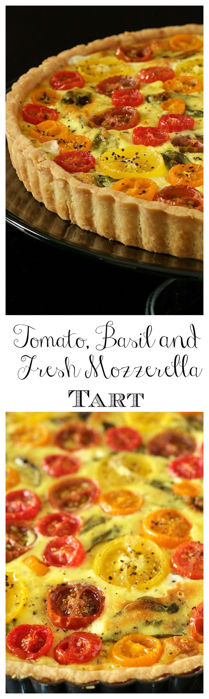 Tomato, Basil and Fresh Mozzarella Tart - with a super easy press-in ...