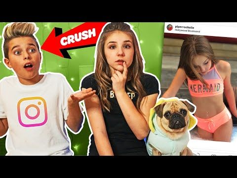 My Crush REACTS To Old INSTAGRAM PHOTOS **FUNNY