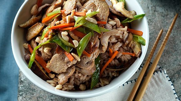 Honey Ginger Pork Stir Fry
