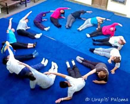 geometrische vormen, meetkunde met je lichaam/de klas doen, klas 6