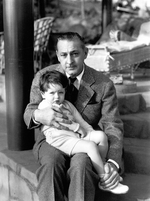 John Barrymore and son John Drew Barrymore