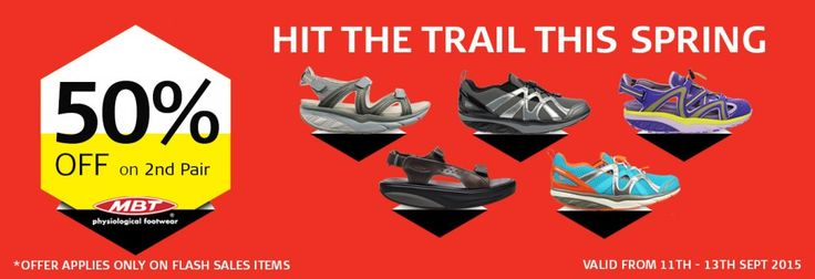 Hit The Trail This Spring – Get 50% Off on 2nd MBT Pair