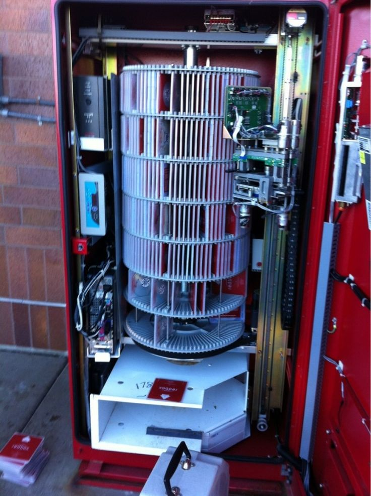 I always wondered how it worked in there!! | Redbox, Cool ...