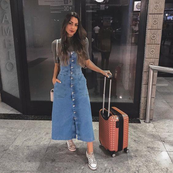 Vestido midi e All star: 15 ideias de looks - Guita Moda | Moda, Looks, Looks evangélicos