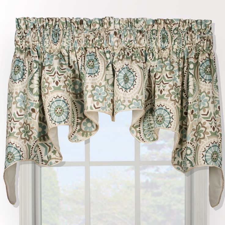 Paisley Prism Duchess 2 Piece Window Valance Blue And Home Decor Store And Floral Swags