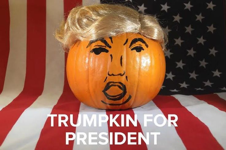 Behold The Trumpkin, The Greatest Halloween Pumpkin Of All Time #refinery29  http://www.refinery29.com/donald-trump-pumpkin-how-to-diy