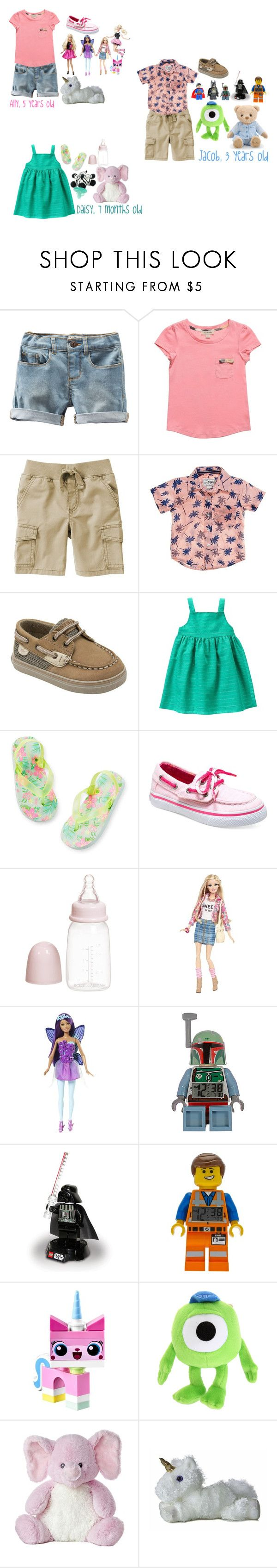 """""""Summer fun"""" by lily-sterl ❤ liked on Polyvore featuring beauty, Burberry, Gymboree, Sperry, Carter's, Dolce&Gabbana, Hot Topic, Lego, WubbaNub and Disney"""