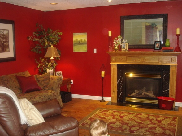 Red living room great paint colors pinterest