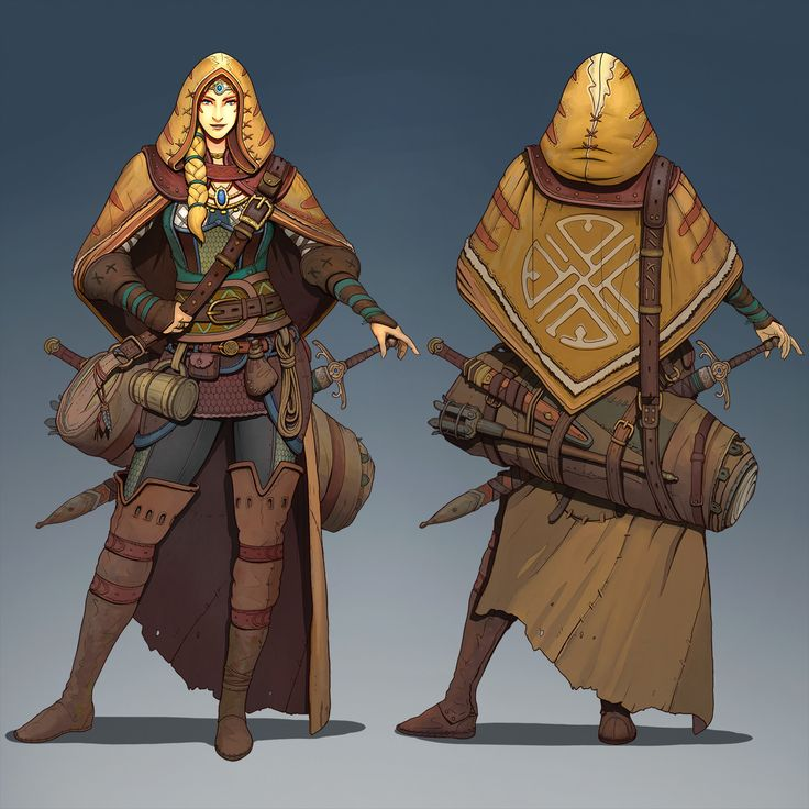 Travelling warrior Jay concept, Roman Zawadzki on ArtStation at https://www.artstation.com/artwork/vRrgx