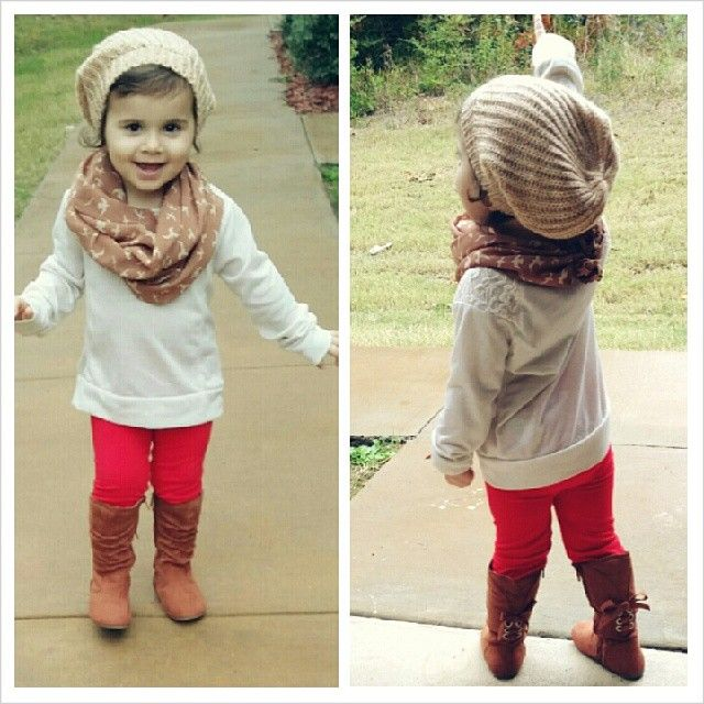 Love the slouch toque and Infiniti scarf!