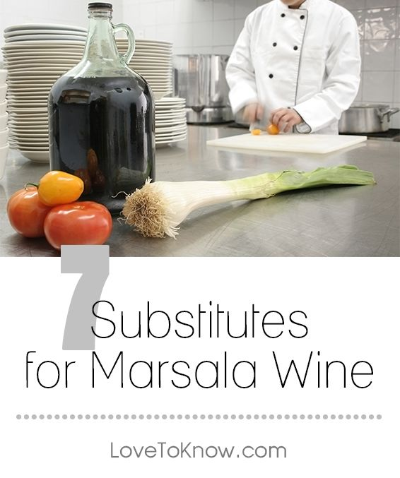If you're making a Marsala sauce or another recipe that calls for Marsala wine and find that you've run out of this ingredient, you may be able to substitute with another wine, sherry, or even brandy. The key is knowing when and how to substitute and how to mix the ingredients so they can best mimic the flavors of this distinctive wine. | 7 Substitutes for Marsala Wine from #LoveToKnow