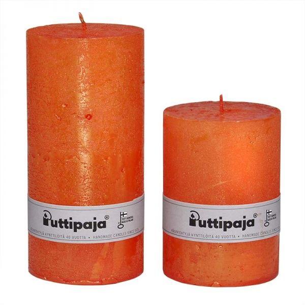 Metallihohtokynttilä/ Oranssi