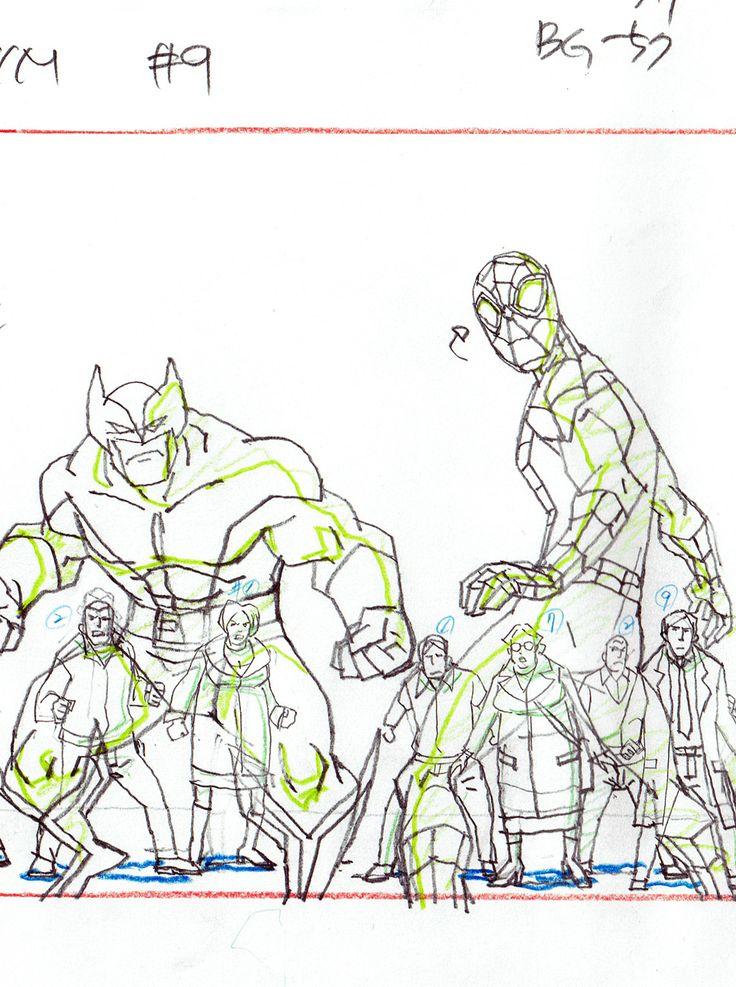 HeroWiz.com - Framed Ultimate Spider-Man - Marvel Animation Art - Wolverine