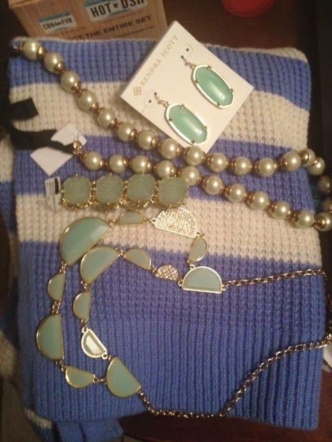 Mint jewelry, mint necklace, mint bracelet, mint earrings, kendra scott