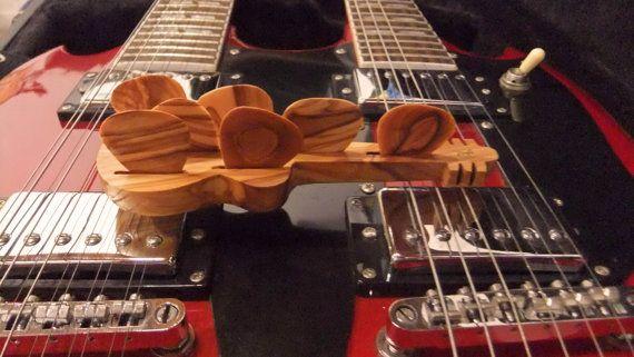 Guitar Picks gift set 7 olive wood plectrums by ellenisworkshop