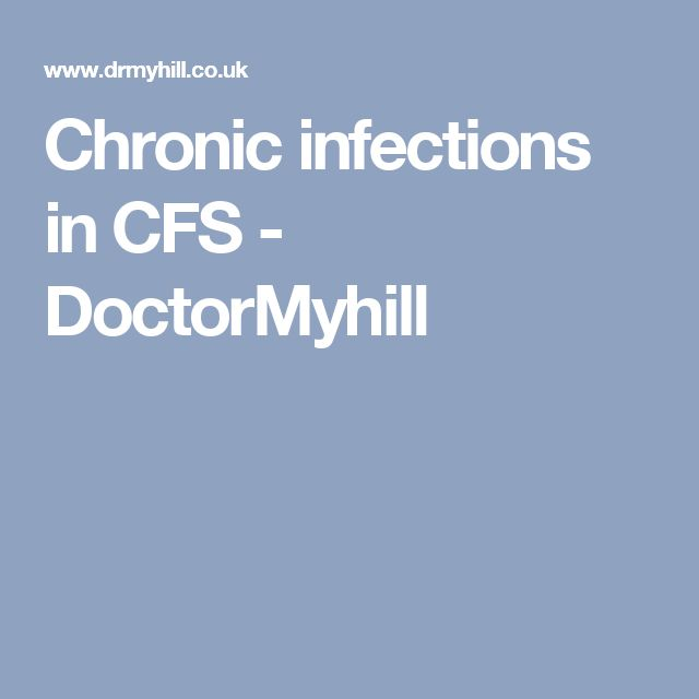 Cfs infections