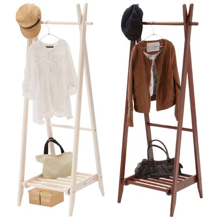 folding clothes rack with shelves wooden coat hanger pipe hangers
