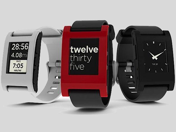 Relógio da Pebble Technology: objetivo era conseguir 100 mil dólares para fabricar mil relógios, que foi cumprido em apenas duas horas