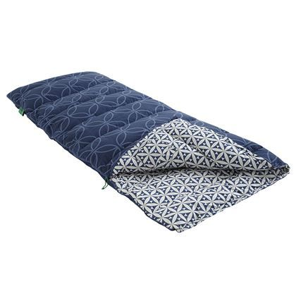 In de Nomad Blazer Limited slaapzak geniet je van je welverdiende nachtrust. De slaapzak is ideaal voor op vakantie en heeft een comforttemperatuur tussen de 2°C en 7°C. De slaapzak heeft zowel aan de binnen- als de buitenkant een leuke print.