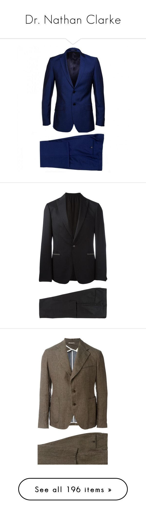 """""""Dr. Nathan Clarke"""" by morningstar1399 ❤ liked on Polyvore featuring men's fashion, men's clothing, men's suits, men, mens 2 piece suits, paul smith mens suits, mens wool suits, slim fit mens clothing, mens two piece suits and black"""