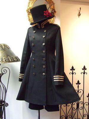 軍服風ワンピースジャケット