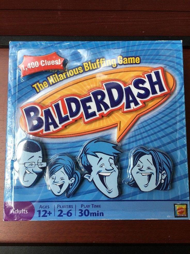 Balderdash Board Game Bluffing 2009 Mattel NEW  | eBay