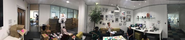 Here's a sneaky behind-the-scenes photo as our team continue to fill and post 1500 boxes for 27000 Code Club UK kids moving on to secondary education this year.   (Flat Tim Peake is trying to help too...but he's made of cardboard, soooo...) #thearduinoshop