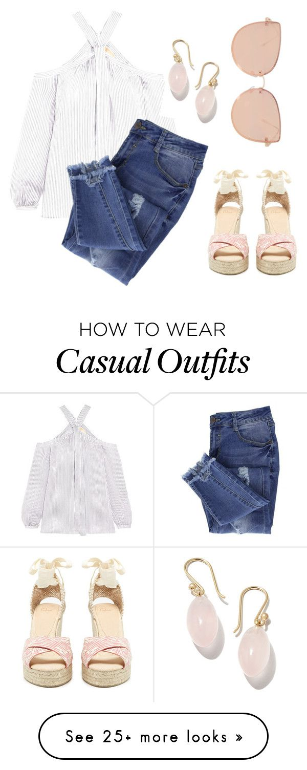 """""""casually cute"""" by nastfantilli on Polyvore featuring MICHAEL Michael Kors, Castañer, Ted Muehling, Essie and Topshop"""