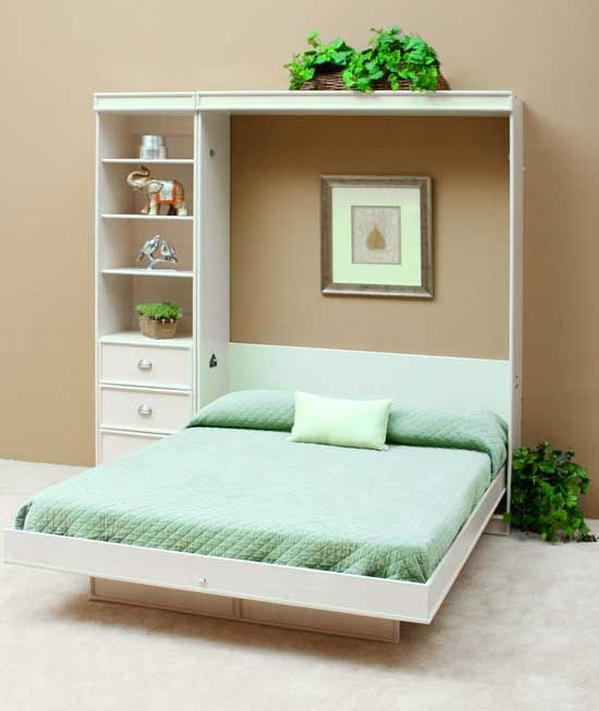 Modern Murphy Bed Simple And Cute White Design Murphy