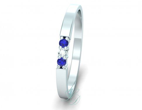 LIV Blue Sapphire - Wedding Ring FOR HER - LucyDiamonds.cz Beautiful wedding ring with blue sapphires...