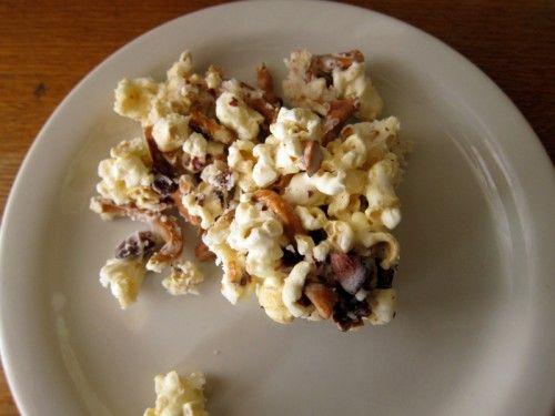 Salted Caramel Almond Pretzel Popcorn.  Heavenly!