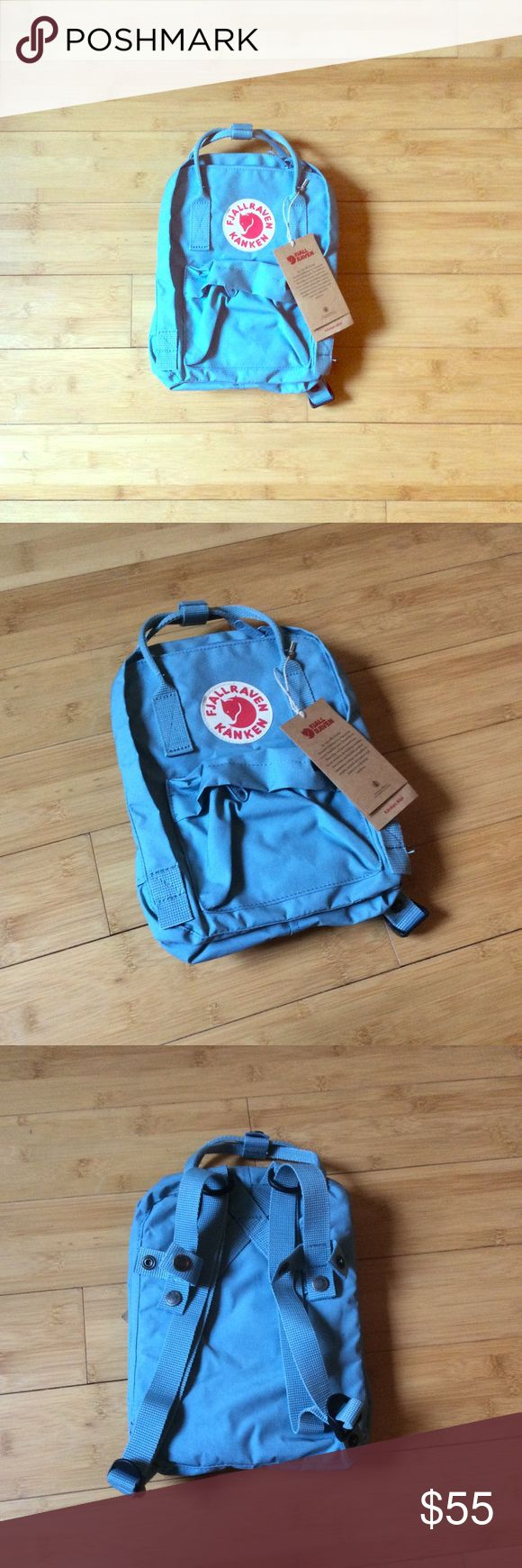 Fjallraven Kanken Mini Blue Backpack NWT - Better for kids bc of the short arm straps Fjallraven Bags Mini Bags