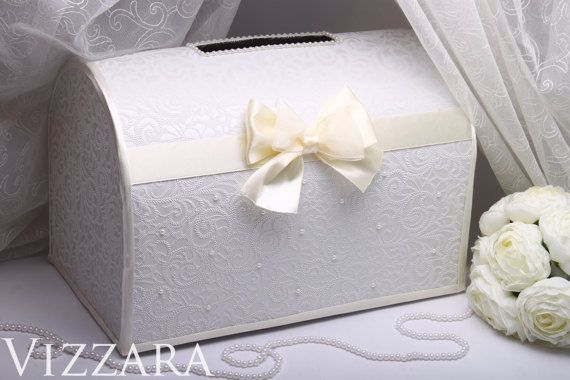"Welcome! Glad to see you in a wedding shop!  Wedding Card Box - IVORY-colored  Price is for one box. The box for money is an indispensable tool in the process of congratulations to newlyweds. This box is for envelopes with money, cards and congratulations to newlyweds.  ♥ If you want me to WRITE your names or the wedding date: STEP 1: In line ""WRITE your names/wedding date"" – SELECT AN OPTION. Price will be changed. ADD TO CART. The inscription options on the PHOTO 3. Place your order an..."
