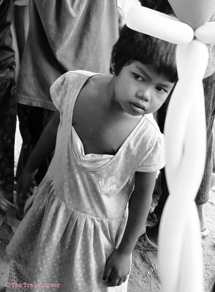 Cambodian girl monochrome photography the traveloguer