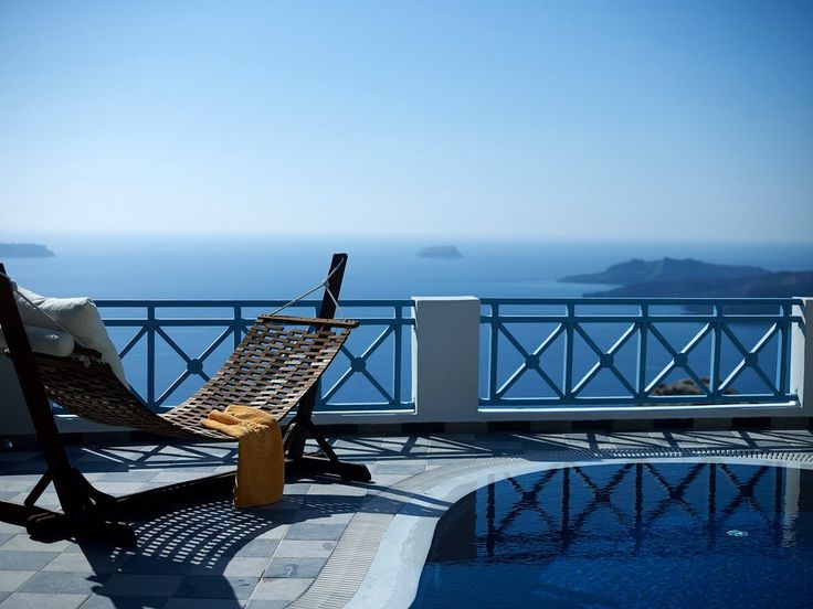 Are you ready to bask in the afternoon sun at Volcano View Hotel Santorini? Your comfy sun lounger awaits, like a magical chariot to whisk you to #Santorini paradise… #HappyFriday!