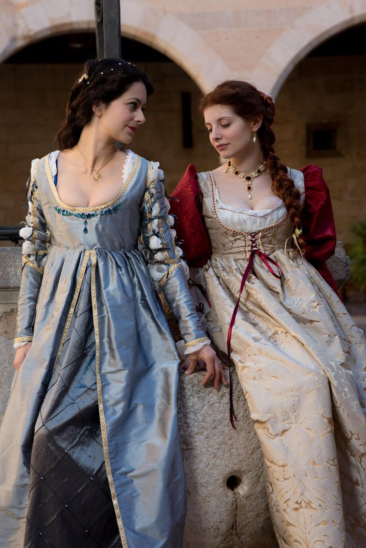 "hoop-skirts-and-corsets: "" Renaissance ladies by SomniumDantis """