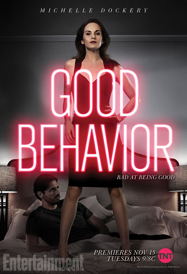 Nearly one year after Downton Abbey aired its final episode, Michelle Dockery is making her small screen return on the TNT drama Good Behavior, and EW has an exclusive first look at a new promo and the key art for the upcoming series.