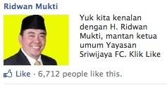 Walopun sudah jadi Mantan Ketua, Pak Ridwan Mukti ini pengen kenalan sama kalian di facebook lho.. :D  » www.facebook.com/RidwanMuktiOfficial